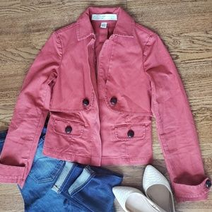 Anthropologie Sitwell Half Trench Coat